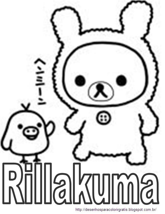 Rillakuma para colorir colorir desenhos para colorir for Rilakkuma coloring pages