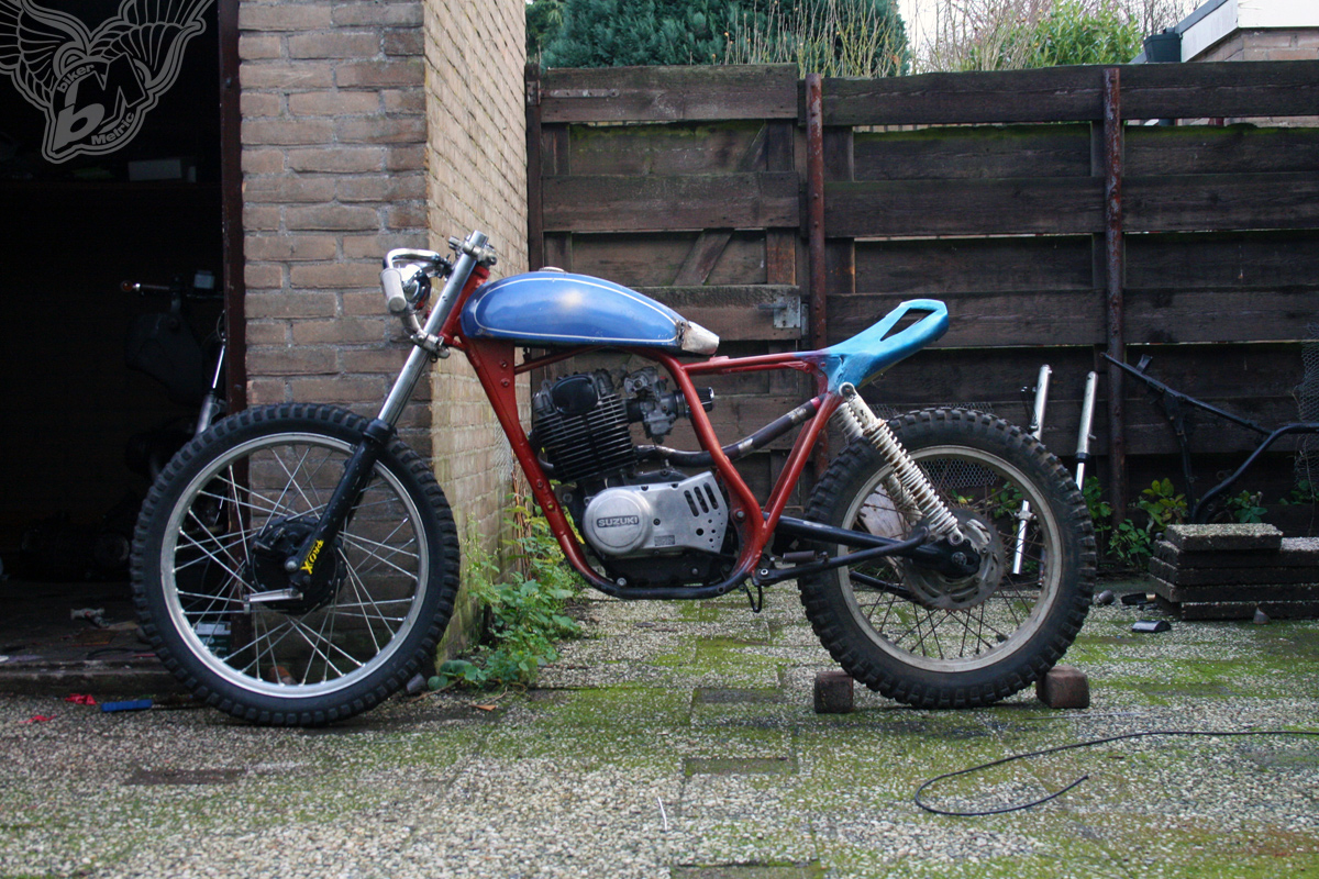 suzuki sp370 - in progress | shed built bikes