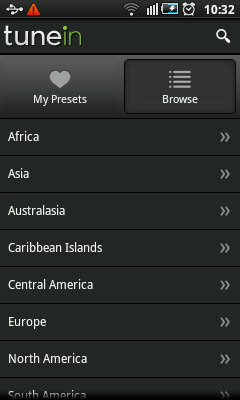 Android Radio - Stations By Locations