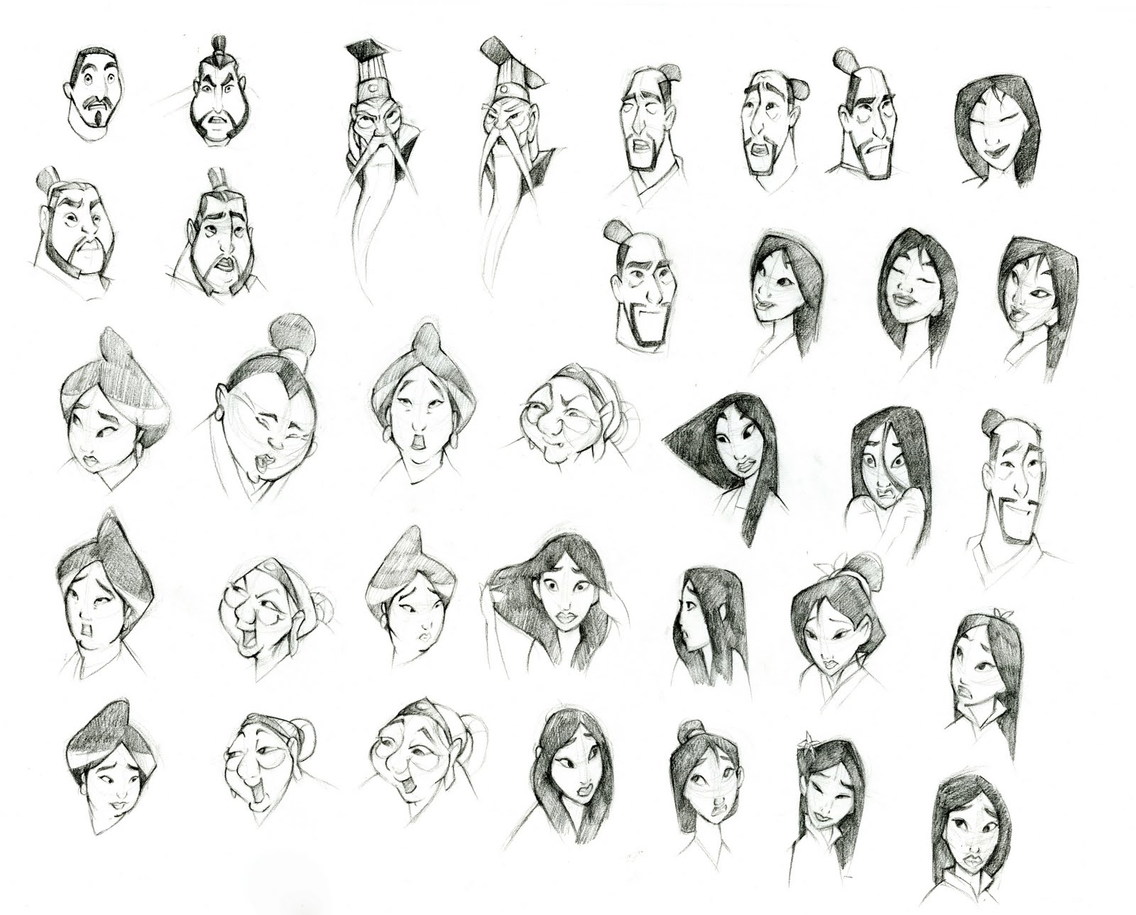 Mulan Model Sheet