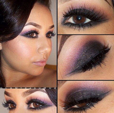 fashion and stylles multi color smokey eye makeup with