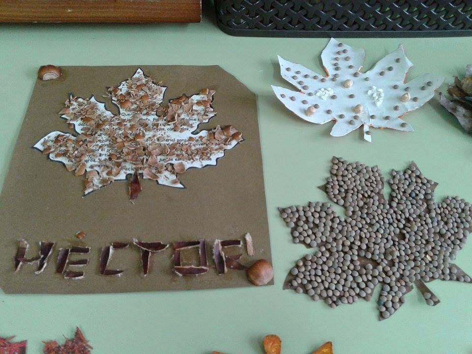 Nuestro mundo por descubrir hojas de oto o - Hojas de otono para decorar ...