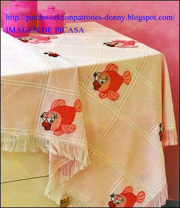 Manteles de apliques de patchwork