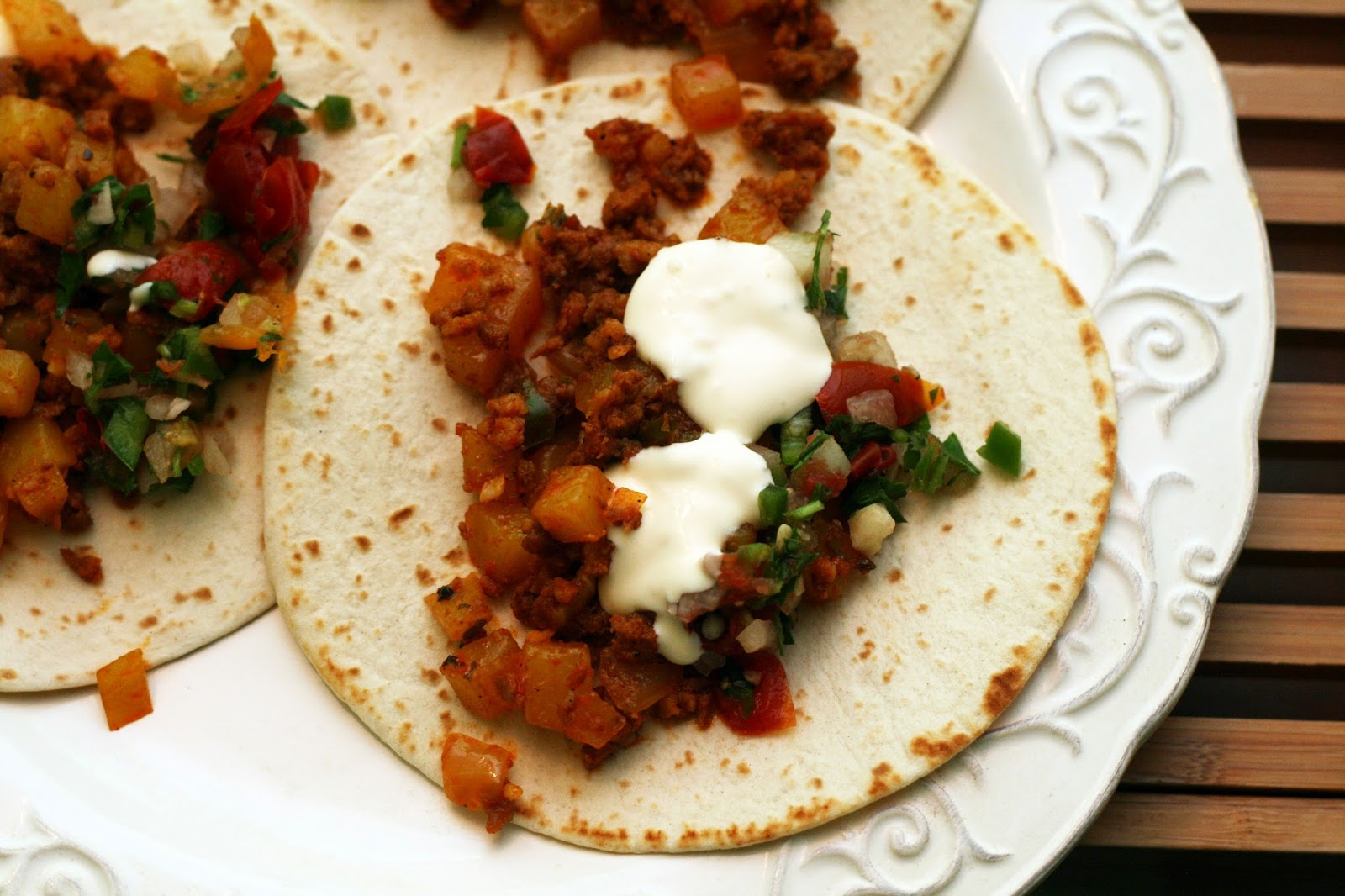 Chorizo And Potato Tacos (Tacos De Chorizo Y Papa) Recipe — Dishmaps