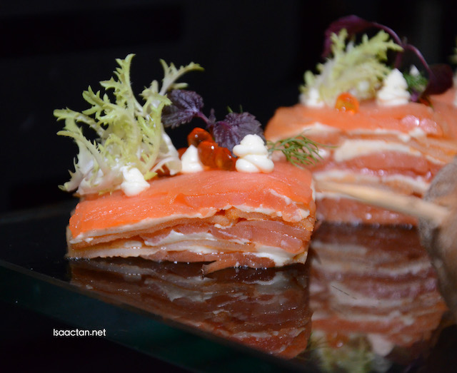 Mille Feuille of Smoked Atlantic Salmon