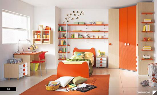 Desain Interior Modern untuk Kamar Anak - Modern Kids Bedroom