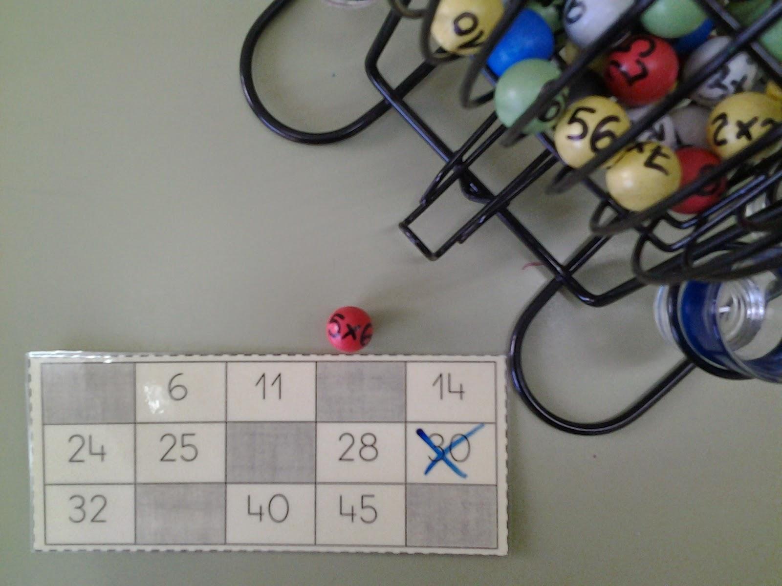 hago y comprendo: Bingo de las tablas de multiplicar