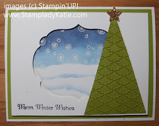 Winter card made with Stampin Up stamp set: Confetti