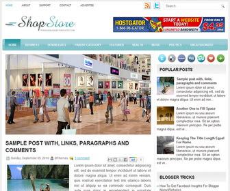 ShopStore Blogger Template