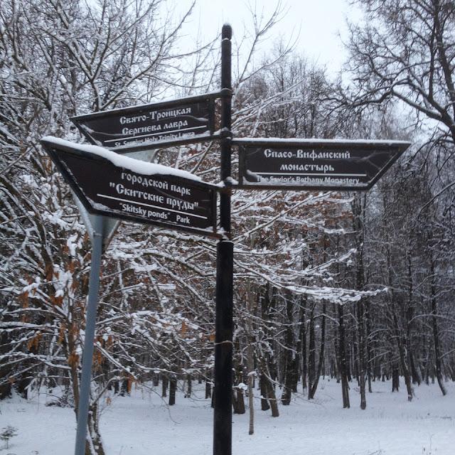 На самом деле городской парк Скитские пруды в другой стороне.
