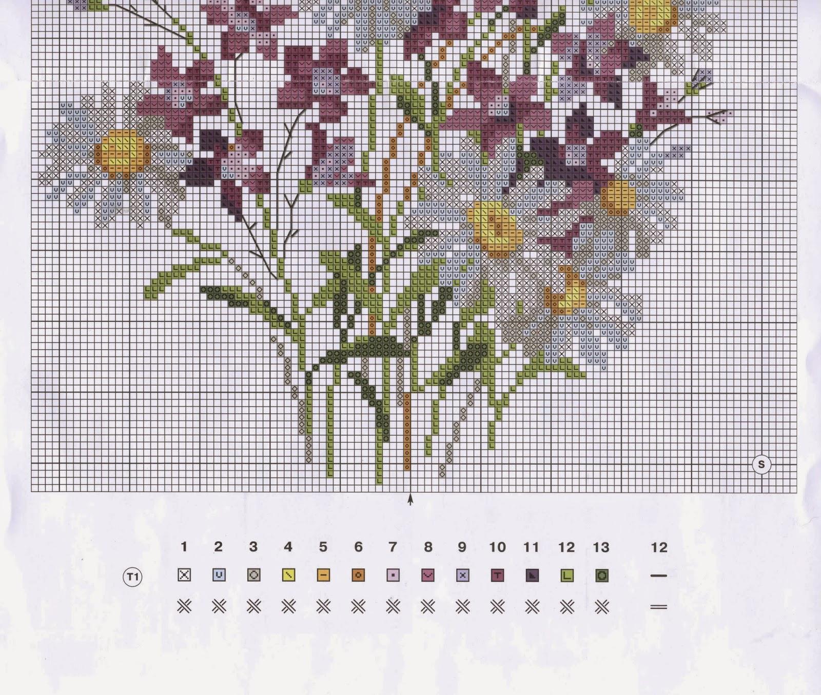 Цветы - Схемы в XSD - Кладовочка схем - вышивка крестиком 24