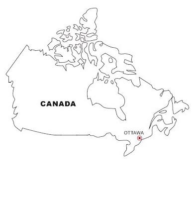 Mapa de Canadá para colorear ~ 4 Dibujo