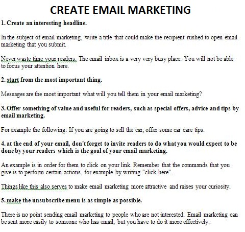 How To Create A Marketing Email?