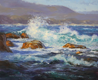 seascape oil painting sketch albany by andy dolphin