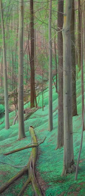 Im genes arte pinturas cuadros pintados al leo de paisajes for Cuadros verticales grandes