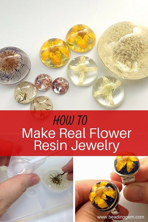 how to make real flower resin jewelry the beading gem 39 s