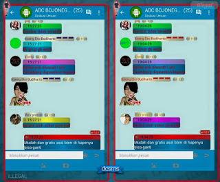 Download BBM MOD Bubble Pelangi V2.10.0.30 APK