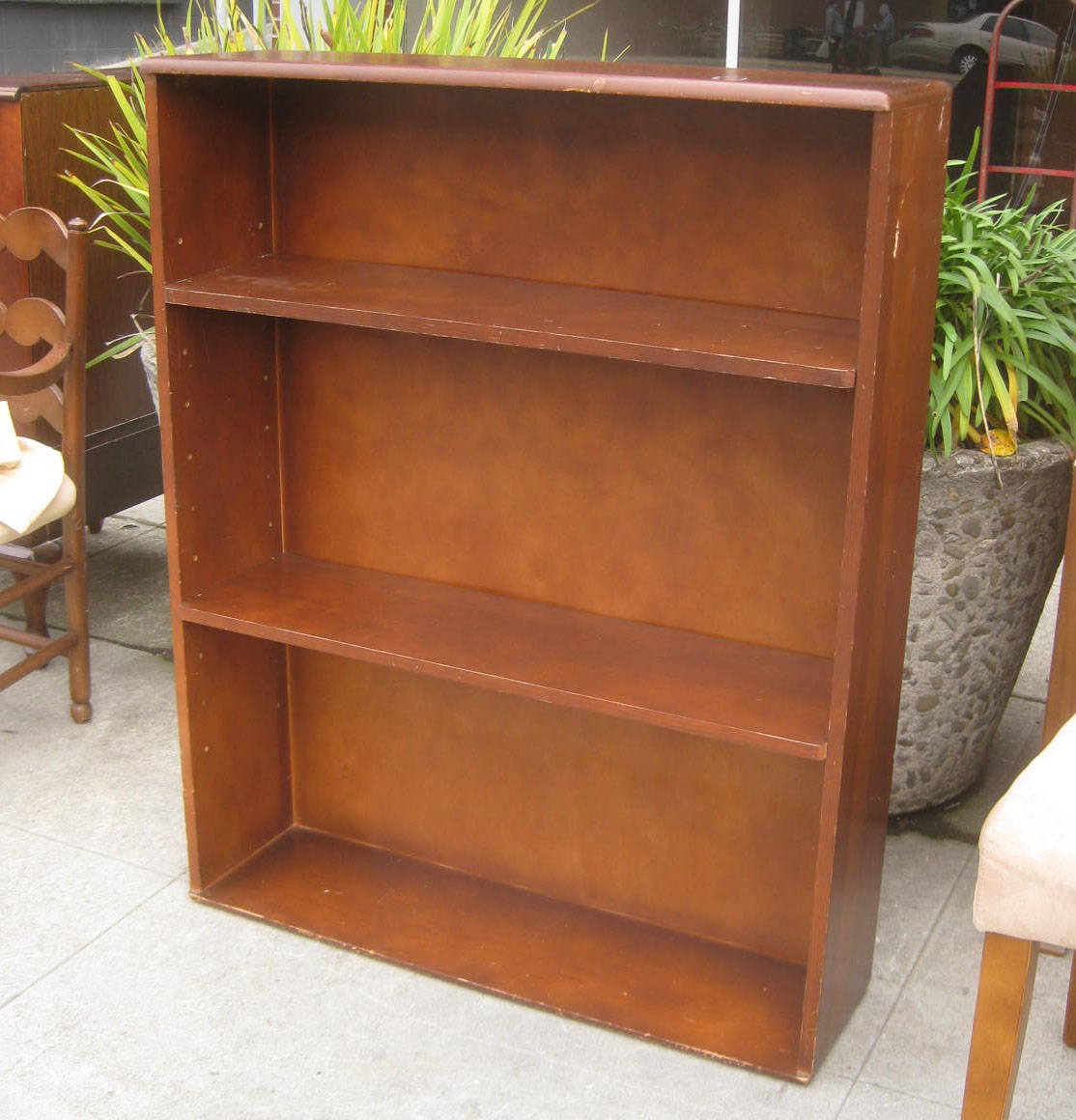 Marvelous photograph of  COLLECTIBLES: SOLD Wooden Bookshelf [w/ adjustable shelves] $40 with #989E2D color and 1114x1160 pixels