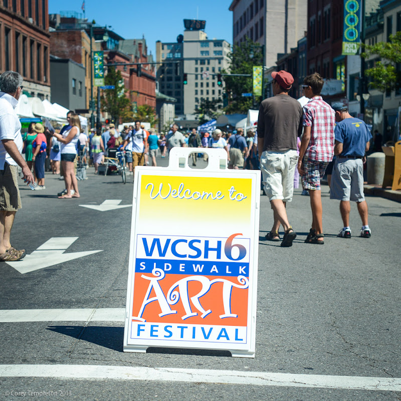 2013 Sidewalk Art Festival Portland, Maine. Photo by Corey Templeton.