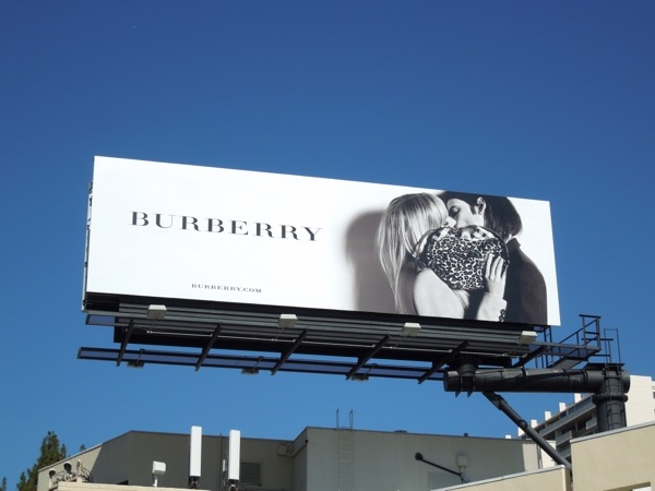 Burberry black and white kiss billboard