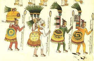vestimenta azteca guerreros