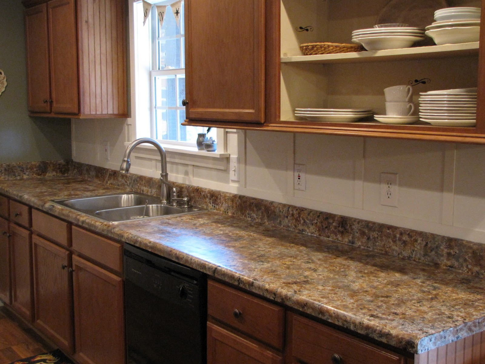 Kitchen Countertops Of Painting Laminate Countertops In The Kitchen