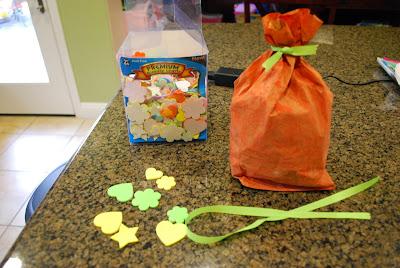 decorating paper bag pumpkin