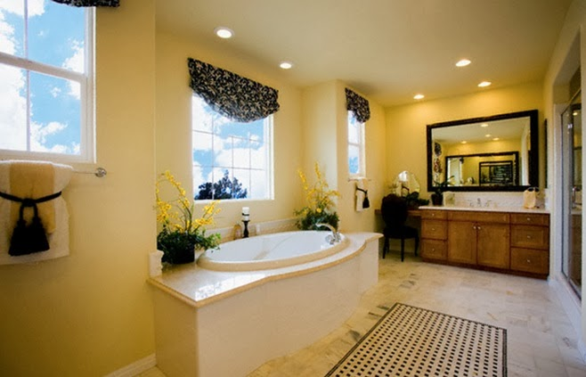 Accesorios Baño Amarillo:Baños en color amarillo y marrón – Colores en Casa