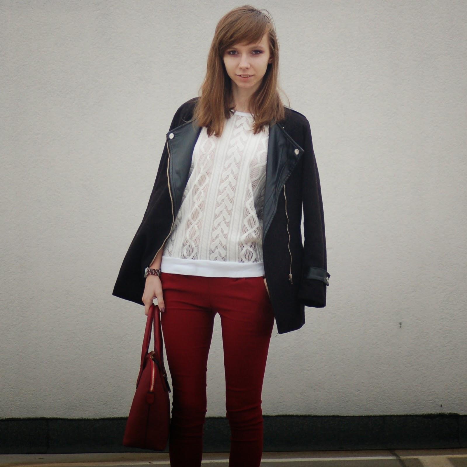 Ażurowy sweterek | vine & white