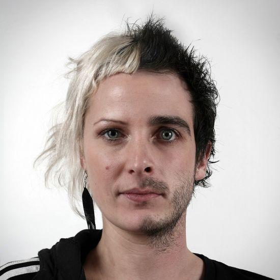 Ulric Collette fotografia surreal photoshop retratos genéticos família rostos misturados autorretratos Prima/primo - Justine (29 anos) e Ulric (29 anos)