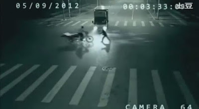Angel, Truck, Rickshaw, China, Hoax, Busted, Road, CCTV, Dragon Totem Girl, Video, Perfect World, Teleporting, Superhero, Alien, Video Game, Chinese, Marketing, Camera, Miracle, Accident,