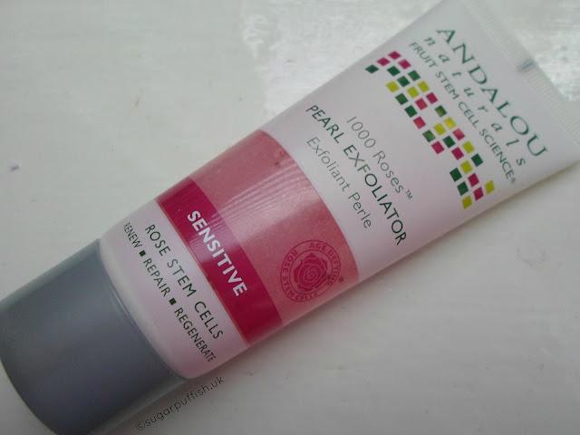 Review: Andalou Naturals 1000 Roses Pearl Exfoliator