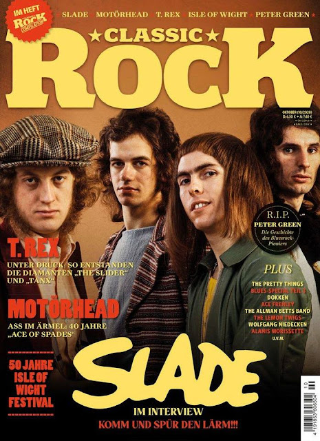 October 2020 German Classic Rock mag with Slade cover