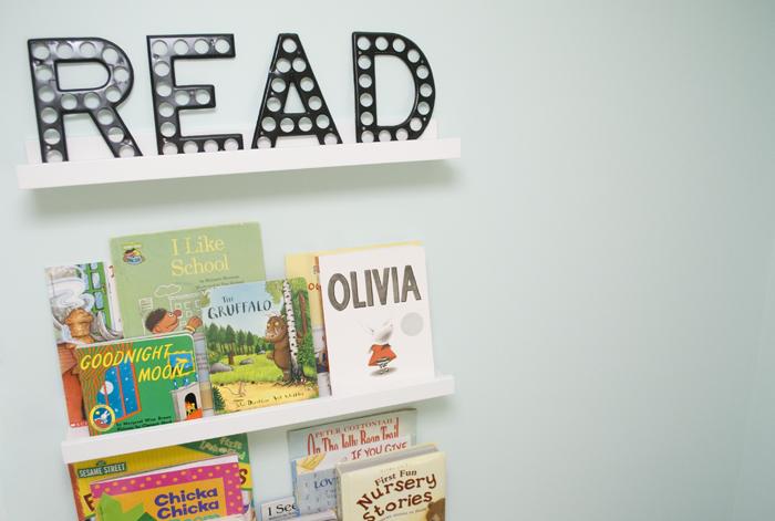 DIY baby bookshelf
