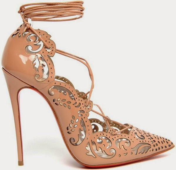 Christian Louboutin Impera Laser cut nude heels