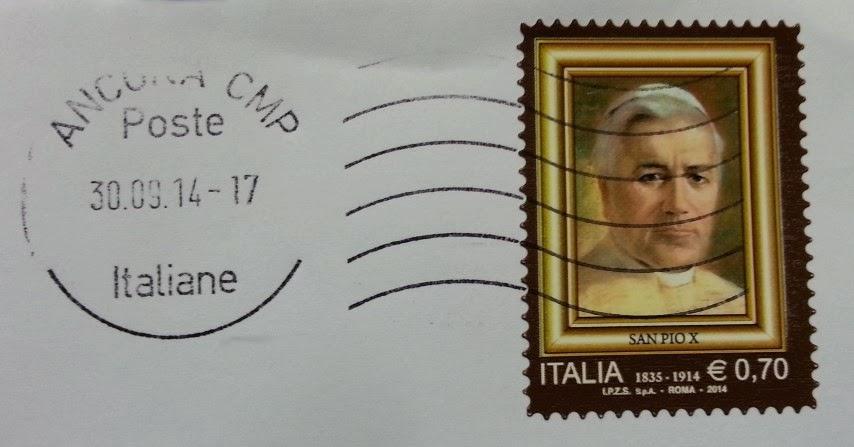 Francobollo commemorativo di San Pio X, nel centenario della scomparsa