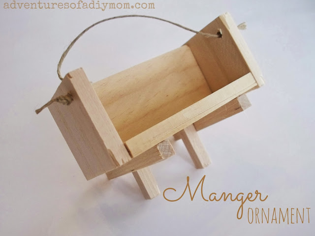 DIY Manger Ornament
