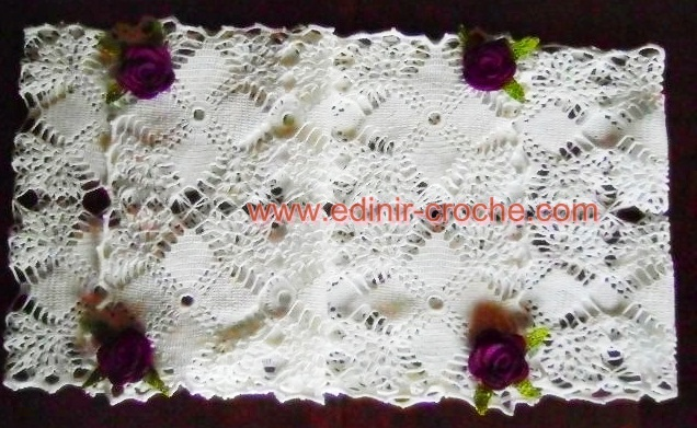caminhos de mesa em croche da coleção aprendi e ensinei com edinir-croche