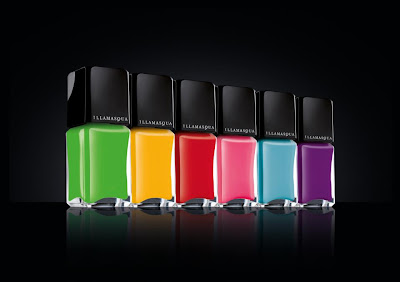 Illamasque rubber finish nail polish