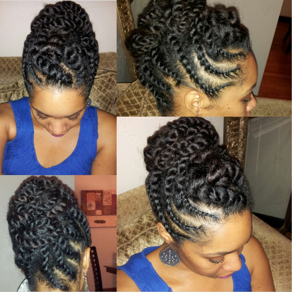 Flat Twist Updo Hairstyles for Natural Hair