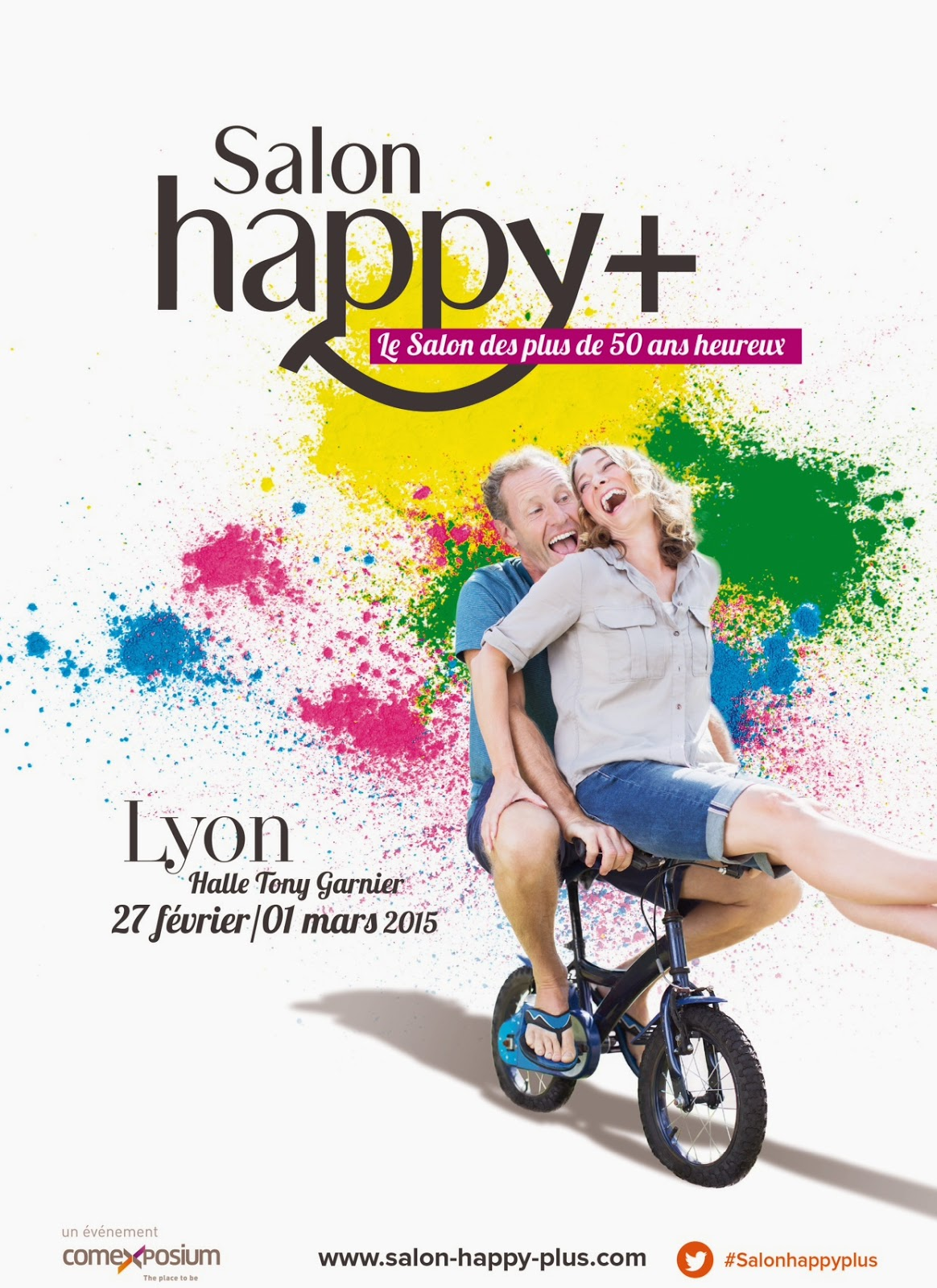 affiche salon Happy + de Lyon