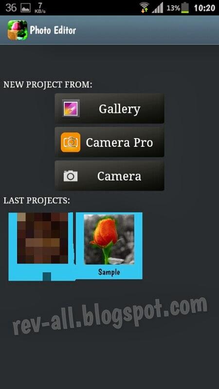 Tampilan utama Photo editor a.k.a Efek foto - Aplikasi android merubah warna atau memberi efek dengan mudah (rev-all.blogspot.com)