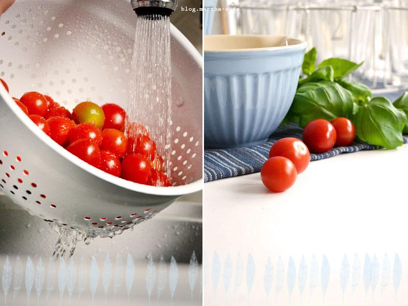 Sommerküche Tomaten : Leichte sommerküche cherrytomaten tarte u martha s