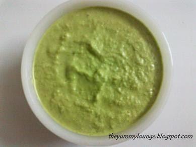 Coriander Peanut Green Chutney Recipe