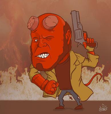 desenho do hellboy