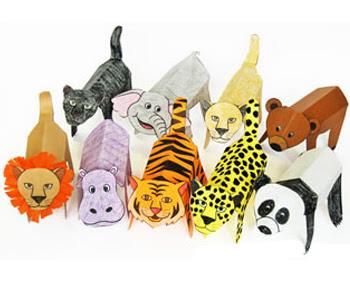 Folding Paper Zoo Animals