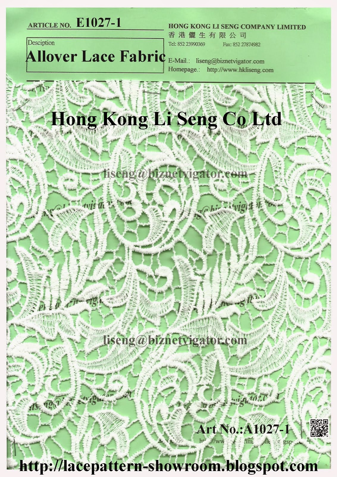 Allover Lace Fabric Manufacturer Wholesale and Supplier - Hong Kong Li Seng Co Ltd