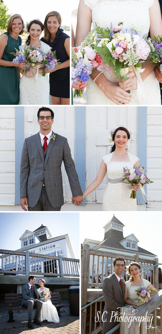 DIY Flowers Bouquets, Elberta Lifesaving Station Bride and Groom, Michigan