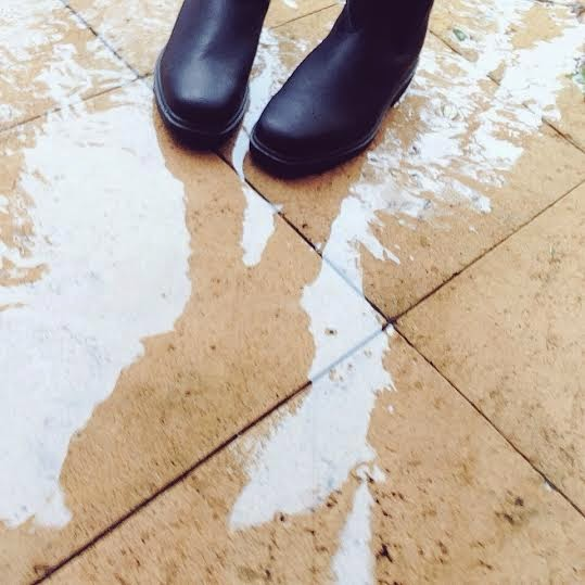 Women's Blundstone Boots in the Rain