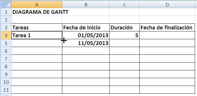 HOJA 12: DIAGRAMA DE GANTT. EL DIAGRAMA DE GANTT DEL PROYECTO ...